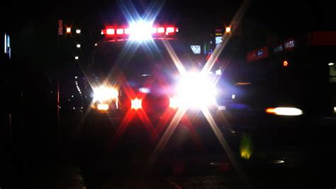 Ems Lights by Ambulance With Lights High Contrast Stock