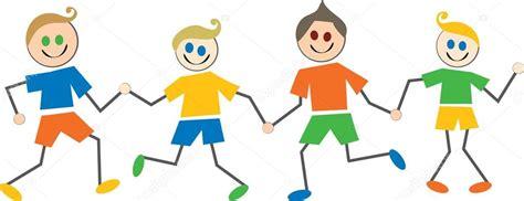 imagenes de niños alegres en caricatura ni 241 os felices caricaturas archivo im 225 genes vectoriales