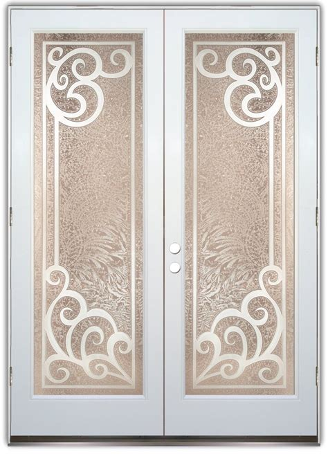 Etched Glass Doors Concorde 3d Etched Glass Doors Tuscan Decor