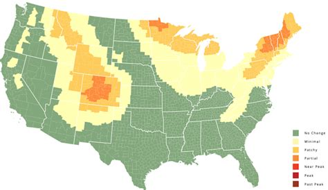 interactive us map color interactive us map predicts the changing colors of leaves