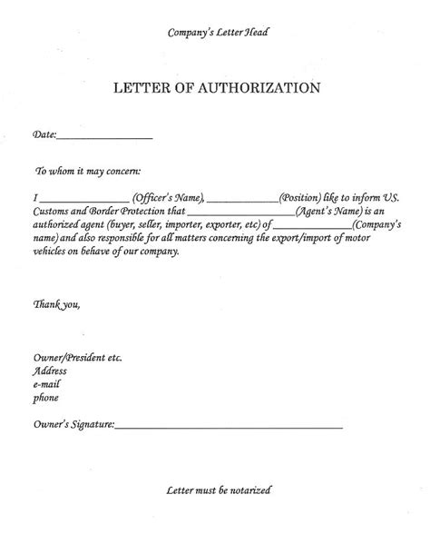 authorization letter of owner collect atm pin authorization letter format sle home