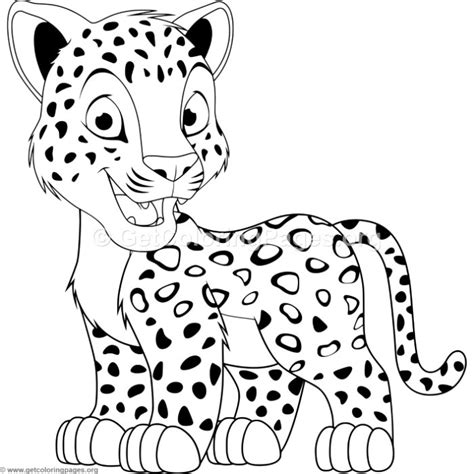cartoon baby leopard coloring pages getcoloringpagesorg