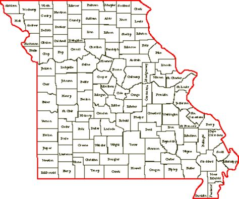 missouri map county lines resources for family community history