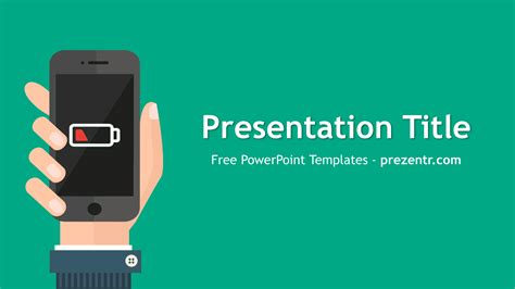 presentation templates for mobile free battery life powerpoint template prezentr ppt templates