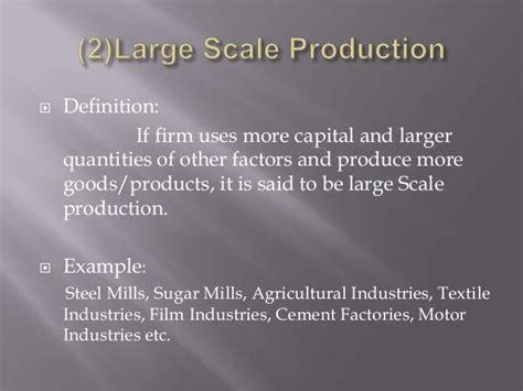 produce definition scale of production micro economics