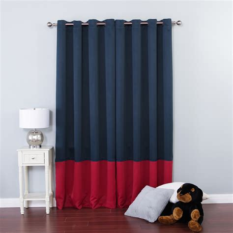 navy blue and red curtains trending now colorblocks best home fashion