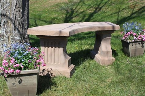 cement benches for gardens concrete coliseum bench w curved seat site furnishings