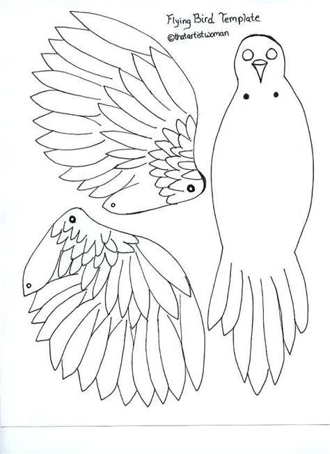 articulated bird template  artist woman