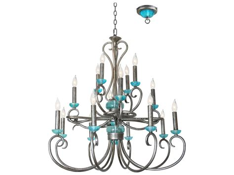 Teal Chandelier Light teal sterling crown network gray 33 wide 16 light chandelier 470150