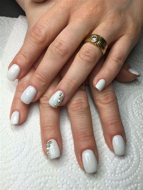 ongle gel blanc ongles en gel blanc