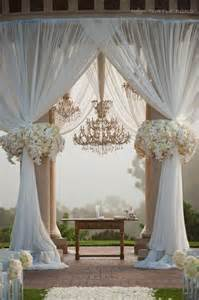 Draped Wedding Arch Favorite Outdoor Ceremony Backdrops Friday S Fab 5 Weddbook