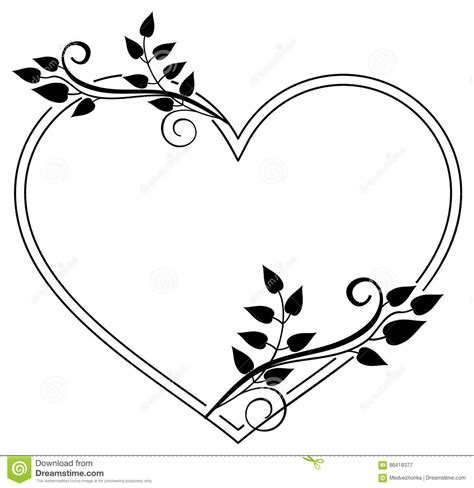 imagenes en blanco y negro de corazones marco blanco y negro en forma de coraz 243 n con las siluetas