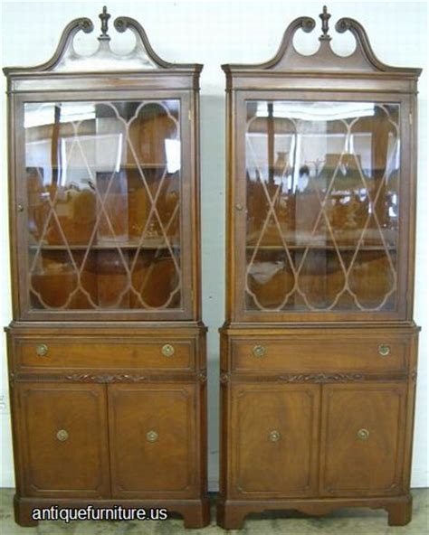 antique corner china cabinet furniture antique pair mahogany corner china cabinets at antique