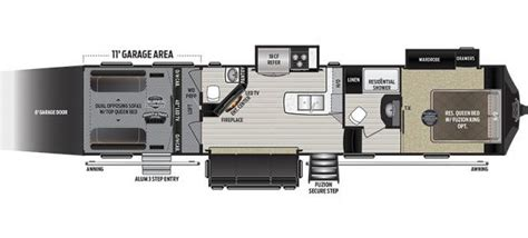 fuzion toy hauler floor plans 2017 keystone fuzion 371