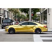 Mercedes Benz CLS63 AMG  25 Obnoxious Gold Chrome Cars