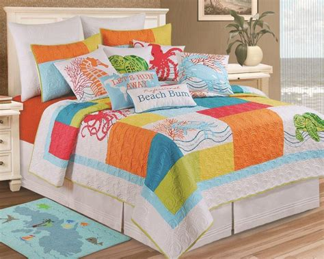 beachy bedding sets breezy atmosphere in bedroom with 3 coastal bedding