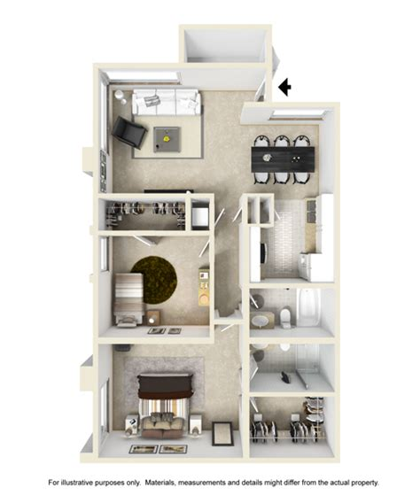 two bedroom two bath floor plans spacious 1 and 2 bedroom apartment floor plans brookside