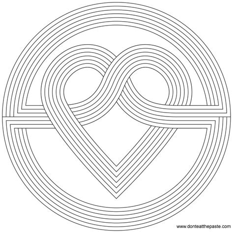 rainbow hearts coloring pages don t eat the paste simple heart knot coloring page