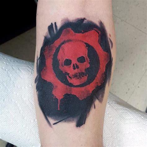 gears of war tattoos 50 gears of war designs for ink ideas