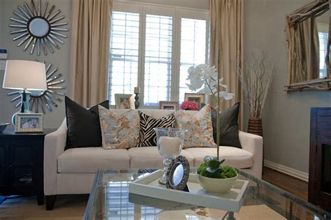 rustic glam living room contemporary living room dallas by a well dressed home