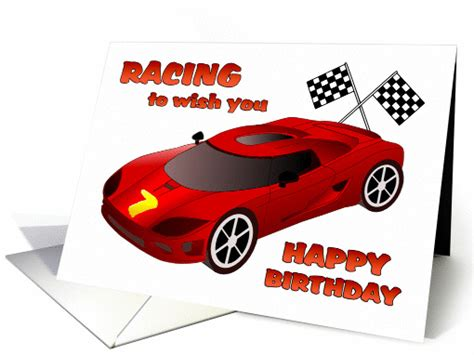 Happy 7th birthday race car birthday card 1089726