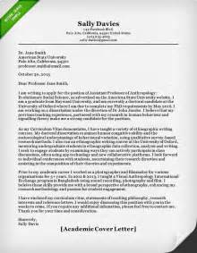 academic cover letter sle resume genius