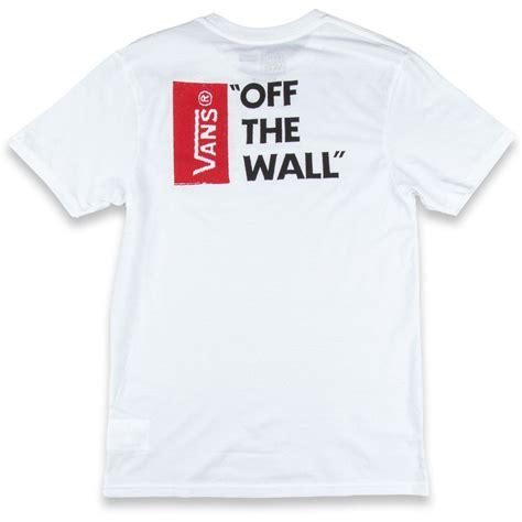 Tees Vans The Wall Tshirt Vans vans the wall ii t shirt white