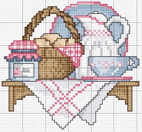 schema punto croce cucina hobby lavori femminili ricamo uncinetto maglia