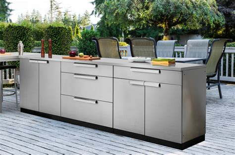 stainless outdoor kitchen cabinets new age cabinets performance newage garage products ranks