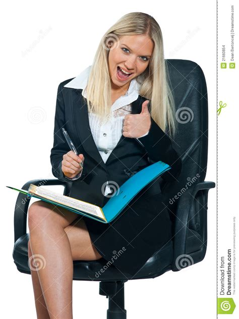 business woman sitting  office chair stock photo image  businesswoman beautiful