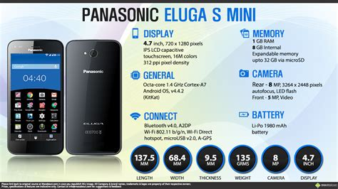 Hp Panasonic Eluga S Mini facts panasonic eluga s mini