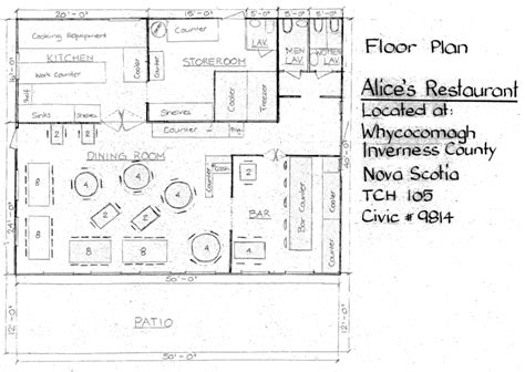 Small Restaurant Floor Plan | cape breton estates alice s restaurant in whycocomagh