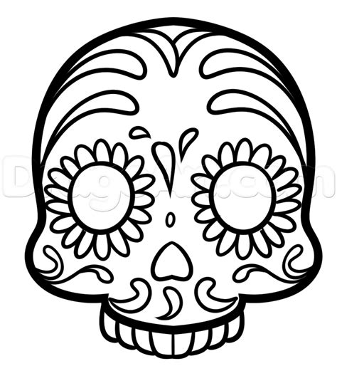 draw  sugar skull emoji step  step skulls pop