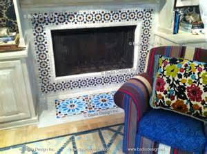 moroccan cement tile fireplace moroccan tiles los angeles