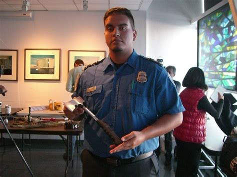 Transportation Security Officer by Tsa Displays Cache Of Weapons At Jfk Checkpoints