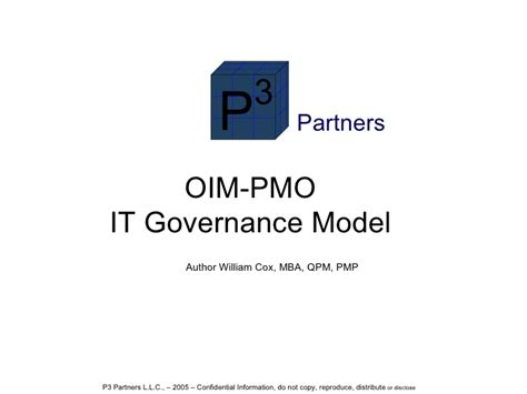 Cox Time Mba Toefl Code by Oim Pmo It Governance Structure Cox