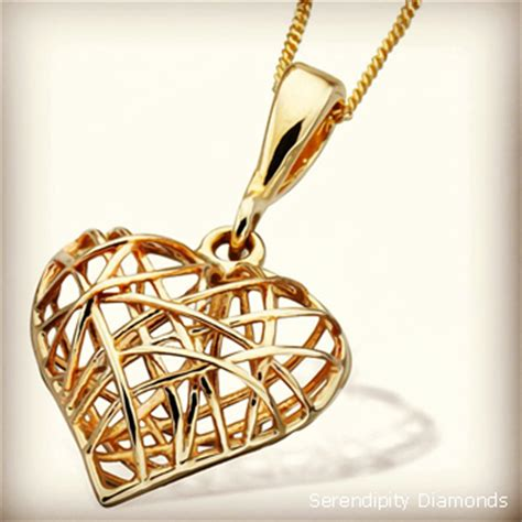promotion 9ct yellow gold wireframe pendant
