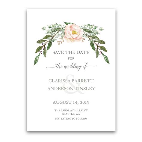 Wedding Invitations Greenery by Floral Wedding Invitations Greenery Blush Flower Wreath