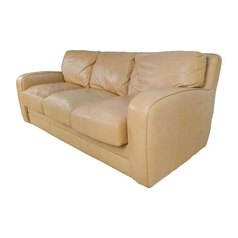 beige leather sofa bed 78 off beige three seat leather sofa sofas