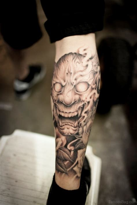 40 impressive mask tattoos for leg