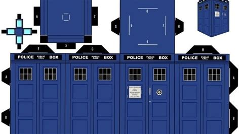 print out and fold your own paper tardis and daleks paper