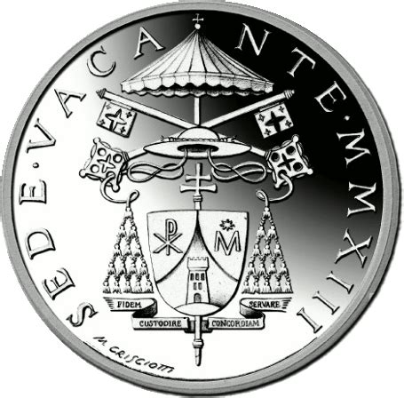 coin sede legale vaticano 5 argento commemorativa sede vacante 2013