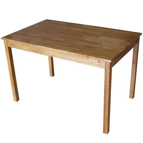 homegear solid oak rectangular dining table the sports hq