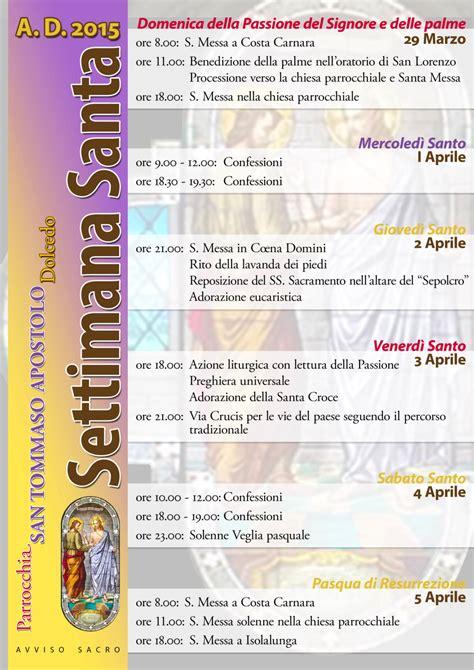 programma settimana santa 2016 parrocchia settimana santa 2015 parrocchia san tommaso apostolo in