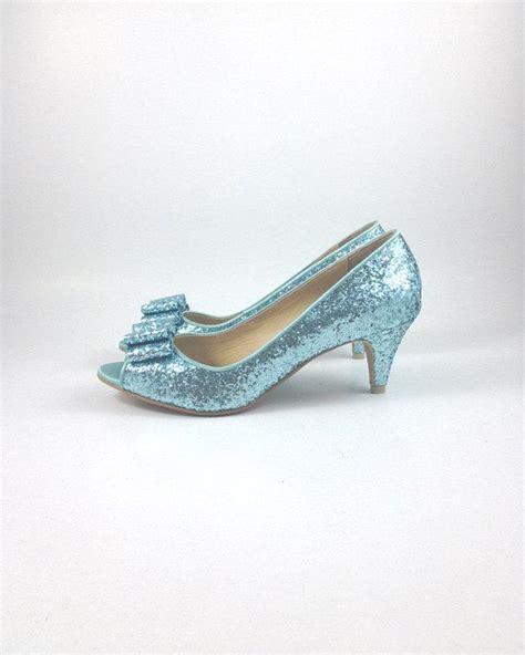light blue wedding shoes something blue wedding shoes blue glitter wedding shoes