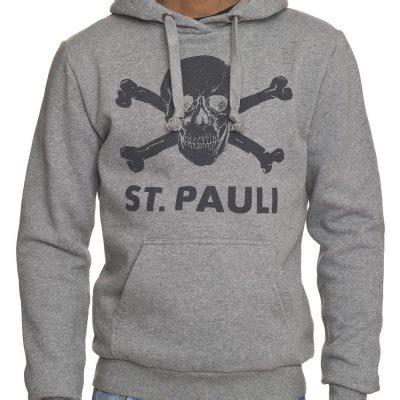 Hoodie St Pauli 3 st pauli skull pullover hoodie gray official