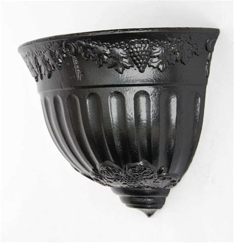 Cast Iron Wall Planter by Pair Regency Period Planters Cast Iron Wall Hanging
