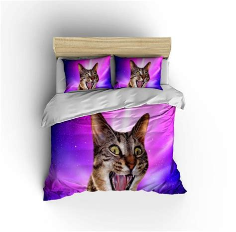 cat bedding sets epic space cat bedding set crazy cat in space duvet