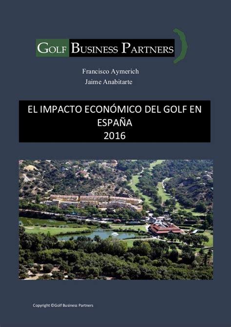 design thinking español el impacto econ 243 mico del golf en espa 241 a pdf