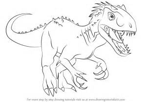 doodle dinosaur draw ruptor learn how to draw the indomius rex dinosaurs step by